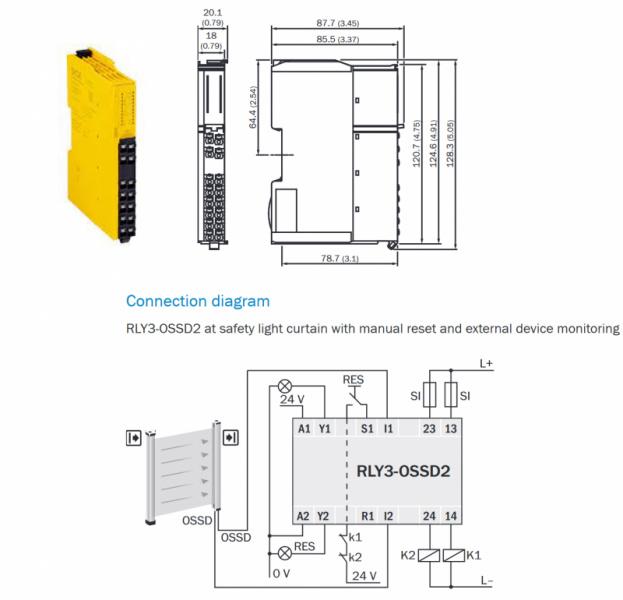 Detec4 drošības gaismas aizkaru komplekts no SICK-3