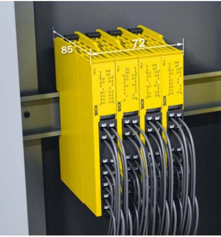 SICK ReLy sērijas drošības releji OSSD un EMSS ierīcēm-3