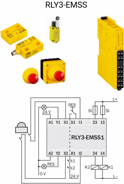SICK ReLy sērijas drošības releji OSSD un EMSS ierīcēm-1