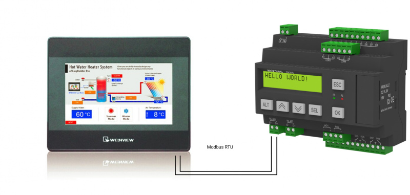 Video: Connection of Weintek HMI and Akytec for PID control-0
