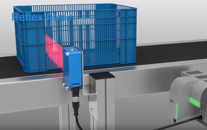 SICK Reflex Array sensori ar 2D gaismas joslu – daudzveidīgu objektu noteikšanai.-2