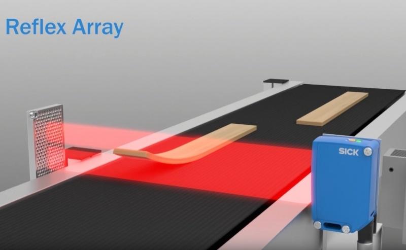 SICK Reflex Array sensori ar 2D gaismas joslu – daudzveidīgu objektu noteikšanai.-0