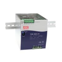 Impulsu barošanas bloks 24V 40A PFC, ieejas spriegums 340-550Vac, DIN, Mean Well