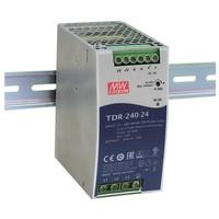 Impulsu barošanas bloks 24V 10A 240W 3-fāžu stiprinājums uz DIN sliedes, PFC, Mean Well